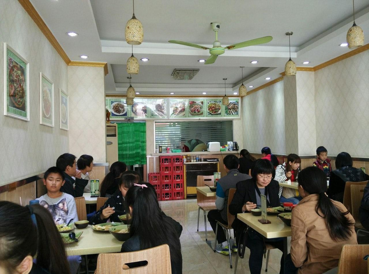 уйгурская закусочная изнутри