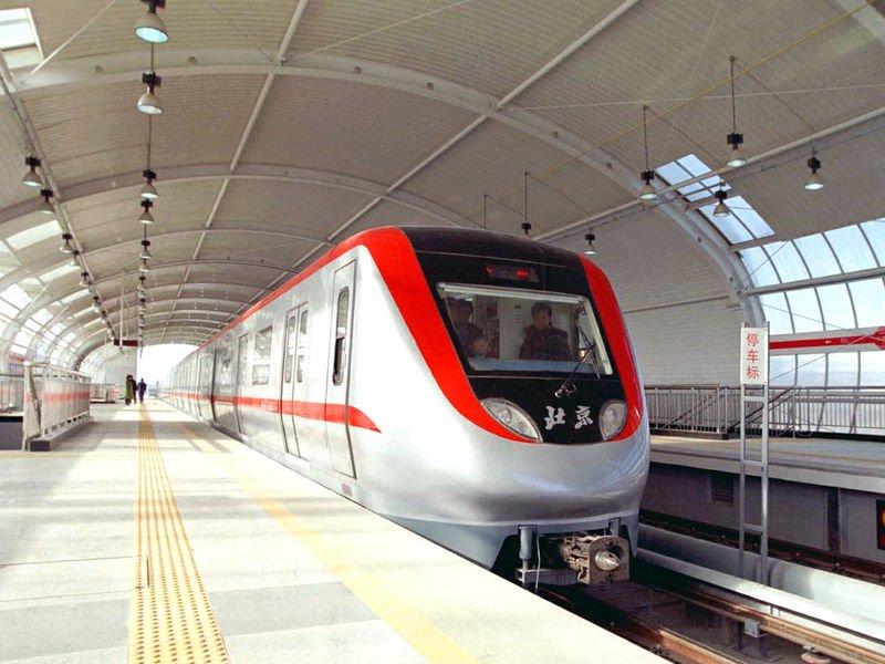 китайский поезд в метро
