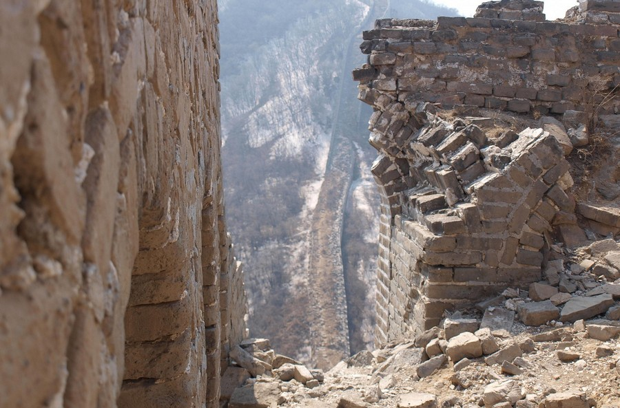разрушение китайской стены