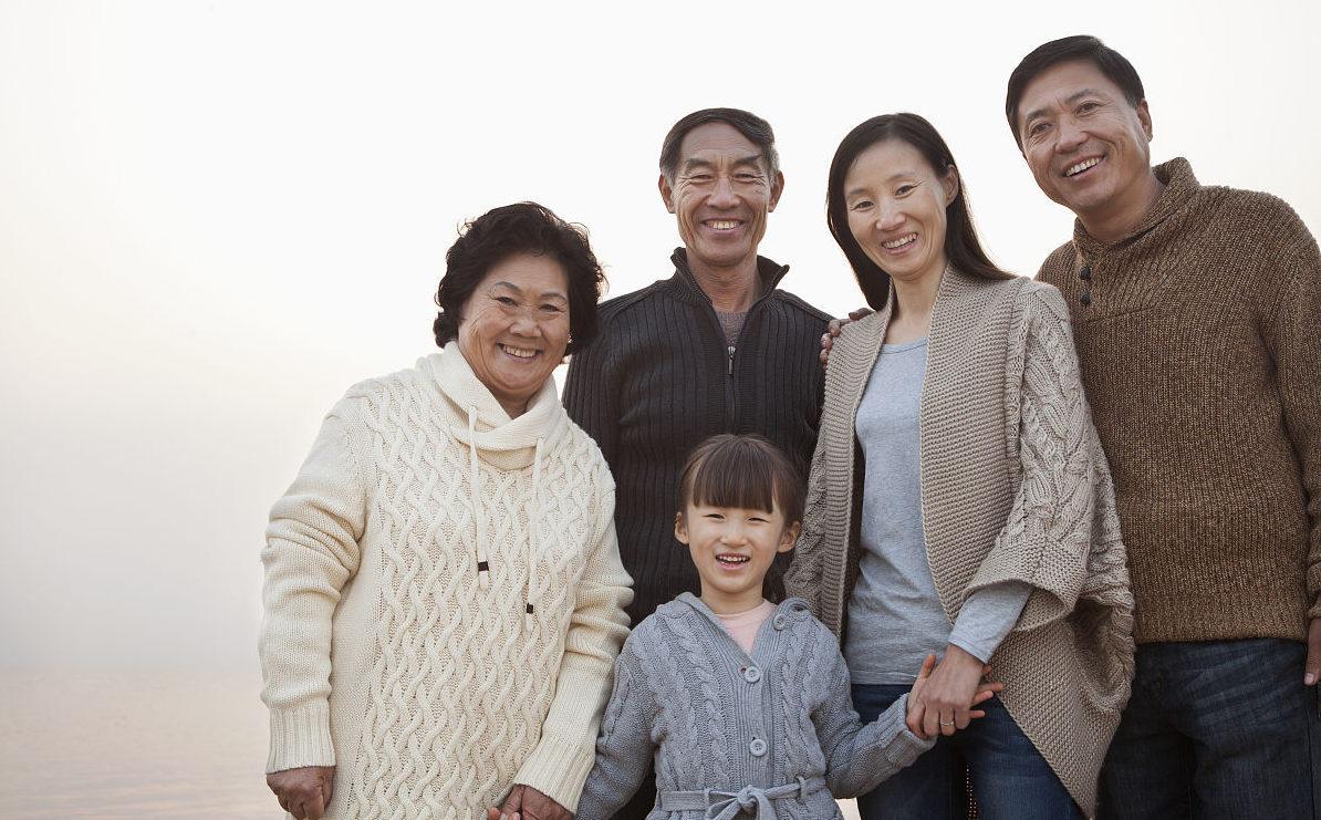 китайская семья
